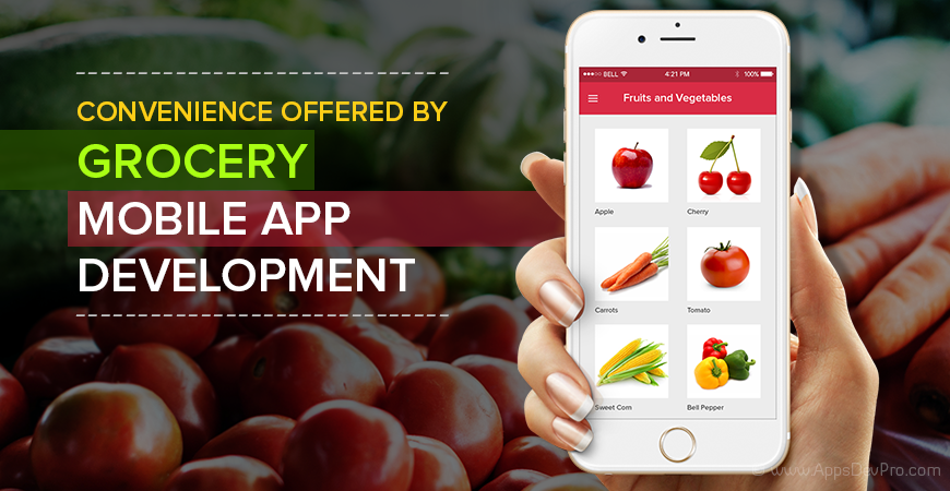 Mobile app for grocery store
